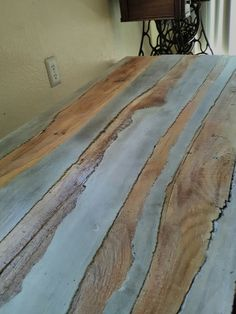 Coffee table ( concrete with wood inlay )