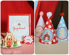 Gingerbread birthday party Dimple Prints
