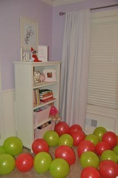 Elf on the Shelf - Fill bedroom floor with balloons!
