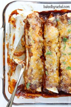 Sweet and spicy barbecue chicken enchiladas with homemade sauce ...