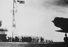 In this captured photograph, Japanese sailors wave their caps as the planes that will soon raid Pearl Harbor leave their carriers. The failure of diplomacy to defuse the Far Eastern crisis proved to be a tragedy for all concerned. In the course of a single decade—from the Manchurian Incident of 1931 onward—more than half a century of amicable relations had dissolved into bitterness, culminating in the irrational violence of war.