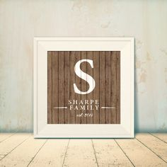 Customizable Family Name Print with Painted by AmySharpeDesign