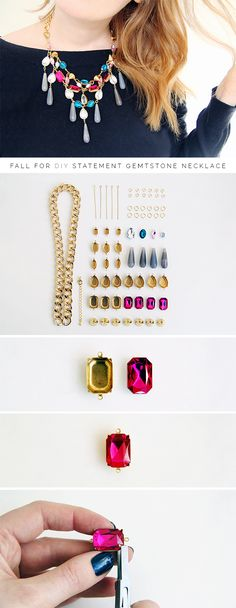DIY Statement Necklace tutorial from Fall for DIY #jewelry #howto