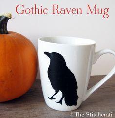 gothic raven mug by thestitcherati, via Flickr