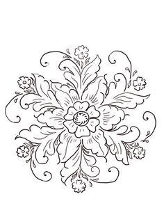 Norwegian Rosemaling Coloring page