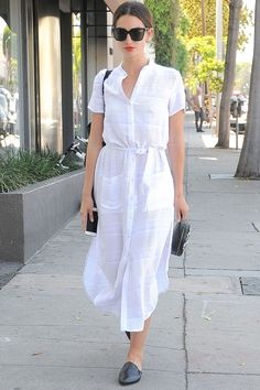 Lily Aldridge wearing reformation