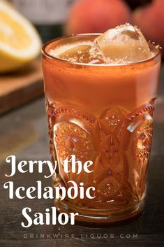 What happens when rum meets vodka? A cocktail called Jerry the Icelandic Sailor, of course! This spiced cocktail will warm you up from the inside during the cold holiday months. Enjoy this wintery tipple around the fire. Festive Cocktails, Halloween Cocktails, Classic Cocktails, Vodka Cocktails, Cocktail Drinks, Cocktail Recipes, Cocktail Ideas, Drink Recipes, Thanksgiving Drinks