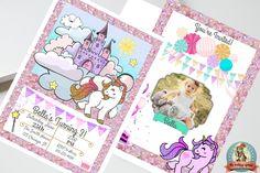 Unicorn Birthday Invitation, Unicorn Invite, Unicorn Party Invitation, Glitter, Unicorn Party, Birthday Invitation-Printed or Digital 5 x 7 by WalkingMombieDesign on Etsy