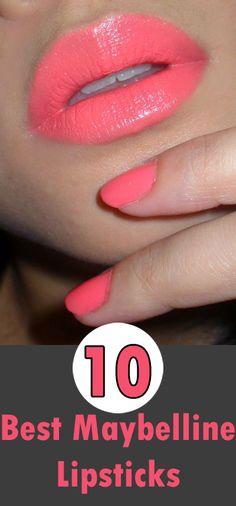 Best Maybelline Lipsticks Follow us @ http://pinterest.com/stylecraze/ for more updates.