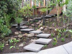 garden walkway stairs