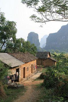 Vivienda rural cerca de Yangshuo, China