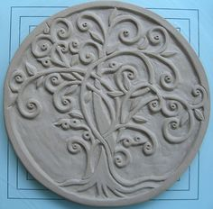 Beautiful low relief on a round piece of clay