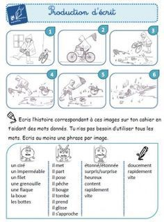 Guided writing in French Teaching French, Teaching Writing, Writing Activities, Writing Ideas, Writing Prompts, French Verbs, French Education, French Classroom, Writing