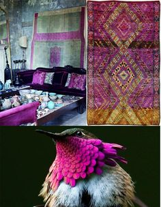 Rugs and  kilims are the master elements of bohemian style.