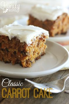 This classic carrot cake recipe is perfectly moist and delicious. The cream cheese frosting is to die for! Always a hit around Easter. Anyway, if you are a carrot cake lover, or even if you aren't-- you have got to try this recipe.