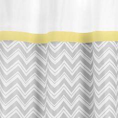 Amazon.com: Yellow and Gray Zig Zag Kids Bathroom Fabric Bath Shower Curtain by JoJO Designs: Home & Kitchen