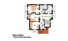Case frumoase. 3 proiecte cu o arhitectura speciala, pentru o locuinta de vis Beautiful House Plans, Beautiful Homes, Tree Bedroom, Small House Design, Design Case, Floor Plans, How To Plan, Houses, Bedrooms