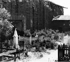 San Fernando Mission chapel and adjacent Indian cemetery, circa 1910s :: San Fernando Valley History