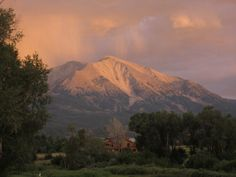 Mt. Sopris Glenwood Springs CO. Very close to Sunlight Mountain Inn. You can enjoy the amazing mountain from almost anywhere in Glenwood.