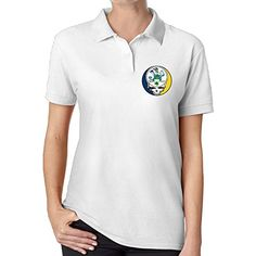 MSCUEYBR Womens Grateful Notre Dame Fighting Irish Logo Polo Shirt White >>> Find out more about the great product at the image link.