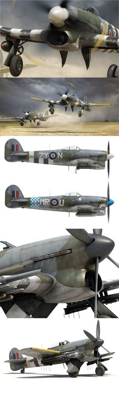 classic warbirds RAF - looks like Hawker Typhoon 1b Tankbuster