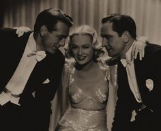 Gary Cooper, Miriam Hopkins & Fredric March in Design For Living 1933 [love this movie!]