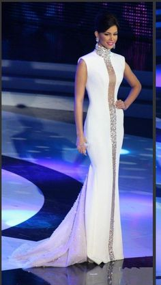Miss Universe Pageant Evening Dresses White High Neck Bling Crystals Cap Sleeve Tulle Mermaid Cheap Celebrity Gowns Formal Prom Dresses Wedding dresses with bling Couture Dresses, Bridal Dresses, Fashion Dresses, Prom Dresses, Mermaid Dresses, Pageant Dresses For Women, Dress Prom, Long Dresses, Elegant Dresses