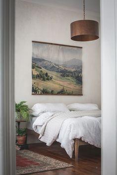 Rolling Hills Vintage Inspired Tapestry by Aimee Weaver Designs Bedroom Artwork, Wood Artwork, Tapestry Bedroom, Bedroom Signs, Wall Tapestry, Barn Wood Signs, Reclaimed Barn Wood, Coastal Decor, Rustic Decor
