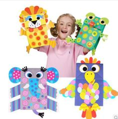 puppets with paper bag Creative Activities For Kids, Crafts For Kids To Make, Art For Kids, Vbs Crafts, Arts And Crafts, Jungle Theme Crafts, Paper Bag Crafts, Paper Bag Puppets, Toddler Crafts