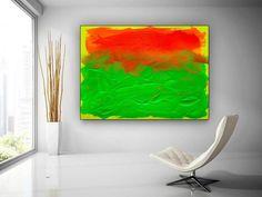Original Abstract Canvas Art-Modern Decor Large Abstract image 1 Orange Wall Art, Orange Walls, Office Wall Art, Office Decor, Kids Room Paint, Colorful Artwork, Bathroom Wall Art, Abstract Canvas Art, Extra Large Wall Art