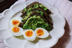 Avocado on Rye toast & eggs for lunch by LJ ♥, via Flickr