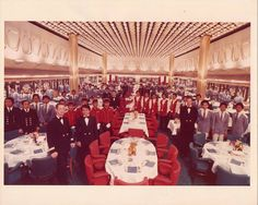 The dining room on SS Rotterdam World Cruise 1981
