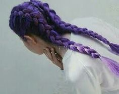 vibrant locks // hair // colour // hair dye // bright // aesthetic // grunge // pastel // purple