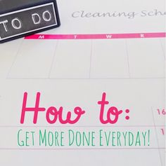 Organized Charm: How to Get More Done Everyday