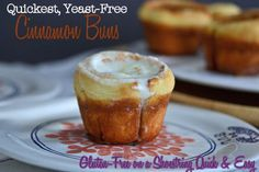 Quickest Yeast-Free Gluten-Free Cinnamon Buns from Gluten-Free on a Shoestring Quick & Easy