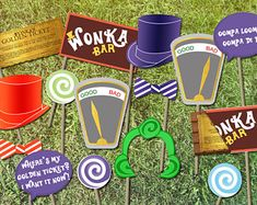 Willy Wonka foto fiesta temática Booth Props