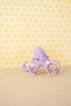 Winston the Octopus  Hand-sewn Stuffed Sea Creature felt