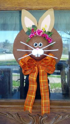 Bunny Easter Hat Wreath made by me :D