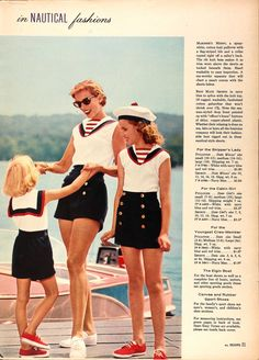 Nautical fashions in Sears, 1958 // Tuppence Ha'penny: Sailor Style Evolution Part 5: Nautical Novelties - 1950s and Beyond