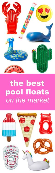 The best pool float roundup on the Internet! | Fashion, beauty and lifestyle blogger Mash Elle rounds up the best adult pool floats on the Internet! This pool float guide explains where to get the best affordable pool floats for pool parties, beach getaways, vacations etc! Click here to see pool floats of all kinds including: a donut, pelican, pineapple, sea shell, diamond ring, ballon animal, rainbow, american flag, lobster, smarties, tootsie roll, pizza slice, popcorn, cactus and more!