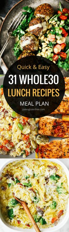 31 days of easy whole30 lunch recipes! Here it is! A quick, easy, and delicious meal plan for an entire month! Hit your goal with this easily customizable meal plan.Best whole30 lunch recipes all in one place. 31 days of whole30 lunch recipes! Whole30 meal plan that's quick and healthy! Whole30 recipes just for you. Whole30 meal planning. Whole30 meal prep. Healthy paleo meals. Healthy Whole30 recipes. Easy Whole30 recipes. Best paleo shopping guide. Easy whole30 lunch recipes. Easy whole30…