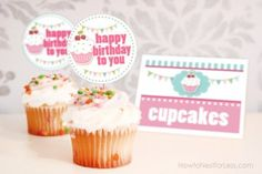 Cupcake Themed Birthday Party with FREE Printables - How to Nest for Less™