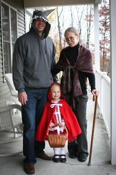 Little Red Riding Hood, Big Bad Wolf and Grandma Family Halloween Costume