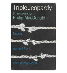 $26.95 | Triple Jeopardy | Philip MacDonald | Hard-to-find 1960s mystery collection in very good condition. by ScottieBooks on Etsy #scottiebooks #booklovers
