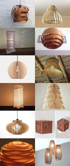 light and wood by anja petek on etsy pinned with treasurypin com - Life ideas Cool Lighting, Lighting Design, Light Fittings, Light Fixtures, Pendant Lamp, Pendant Lighting, Diy Luz, Diy Luminaire, Wood Lamps