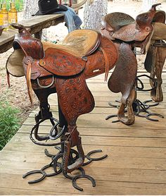 Saddle Bar Stools On Pinterest Bar Stools Western