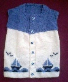Ravelry: Argyle Vest Pattern By Patons - maallure Knitting For Kids, Baby Knitting Patterns, Knitting Designs, Baby Patterns, Crochet Pattern, Baby Boy Vest, Baby Scarf, Baby Cardigan, Knit Vest