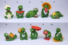 Kinder egg tiny terrapins - it was so important to collect these