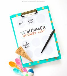 Free Summer Bucket List Printable to get all your Summer wishes on the paper!