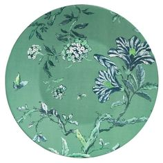The exotic design of Jasper Conran Chinoiserie Green Collection features freely styled delicate enchanting branches. This whimsical Chinoiserie Green Plate is awash in rich blues and bold greens. Stunning embellishments of flowers and branches give this pattern a truly unique and eye-catching appeal.